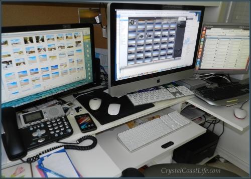 My very full Computer Desk