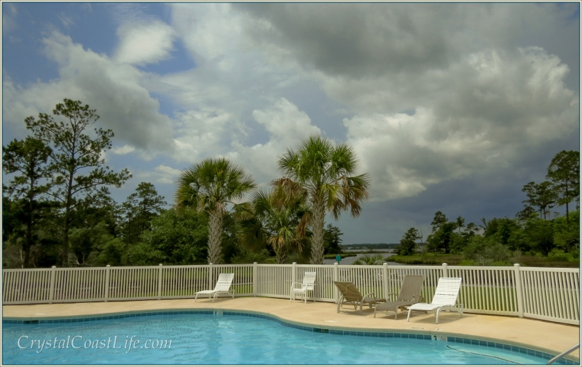 Threatening Clouds At Our Neighborhood Pool Just Off The White Oak River