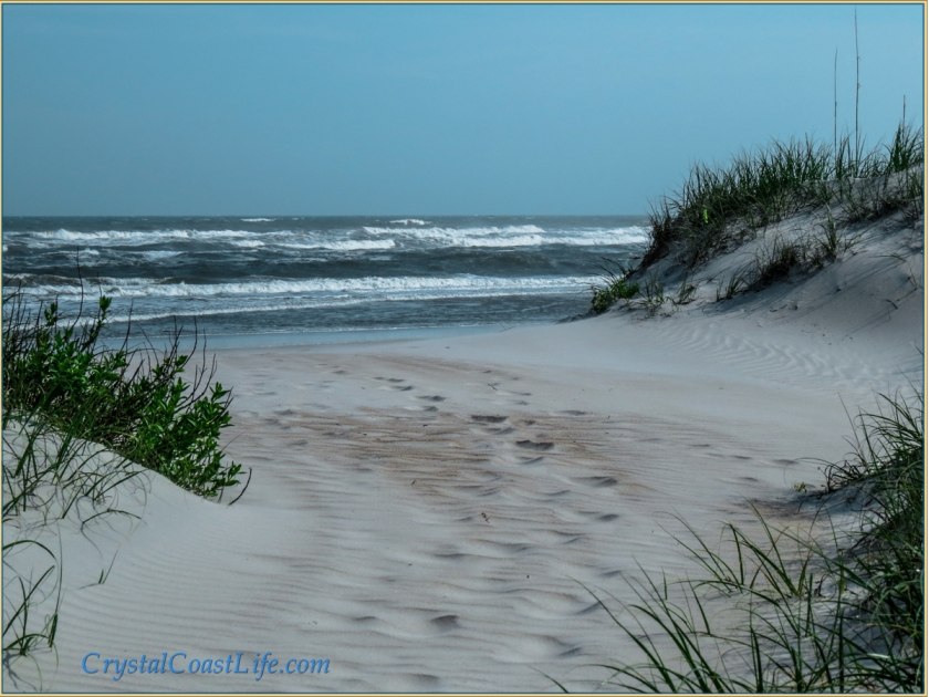 The Entrance To A Beach In the Town of Emerald Isle, NC