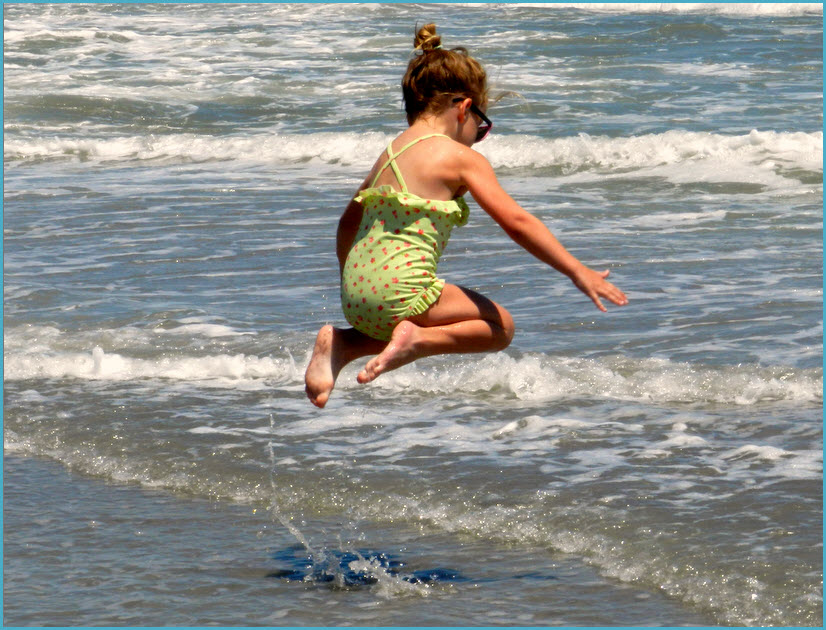 Fun jumping the waves at Emerald Isle, NC