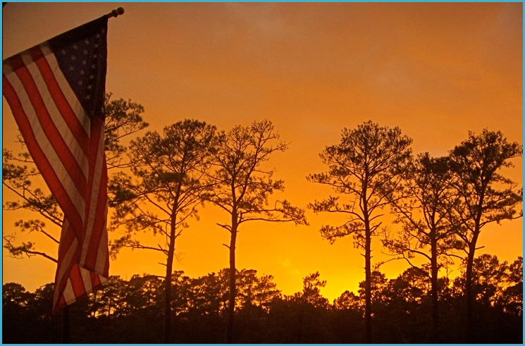Sunset on North Carolina Coast