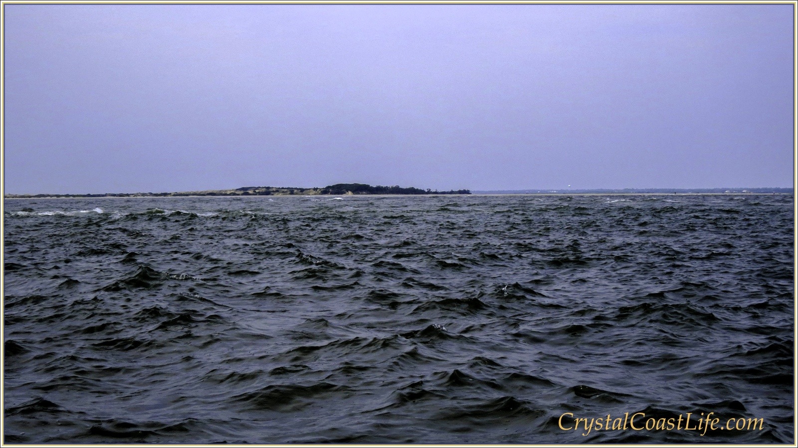 Rough Waters Outside of Bogue Inlet, August 28, 2013