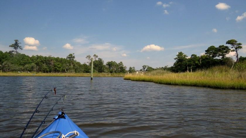 Kayaking in Raymond's Gut