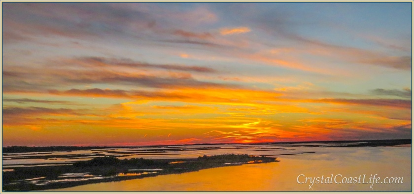 Sunset over Bogue Sound