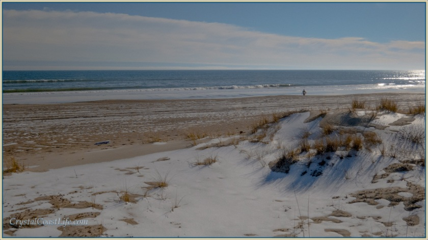 Snowy Emerald Isle Beach
