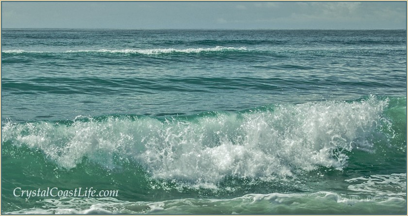 A wave near the Point at Emerald, Isle, NC