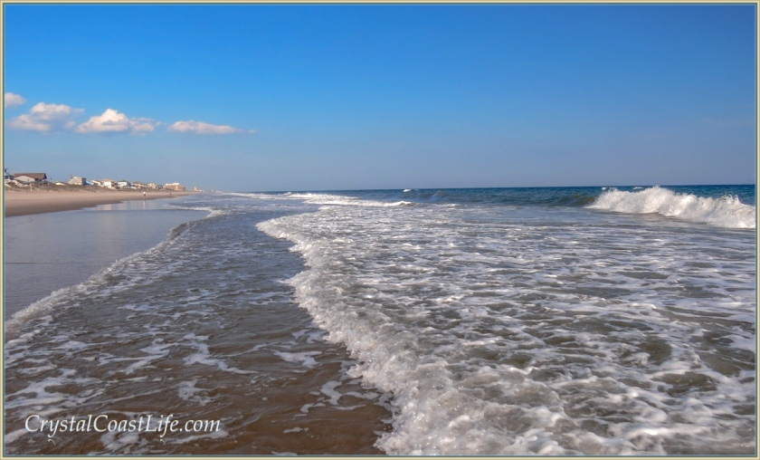 Standing in the surf, Emerald Isle, NC