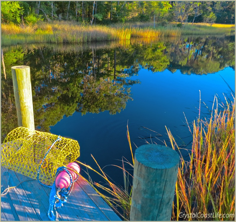 A fall day at our dock on Raymond's Gut
